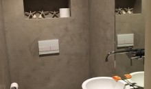 Toilet renovatie betonlook microcement microbeton