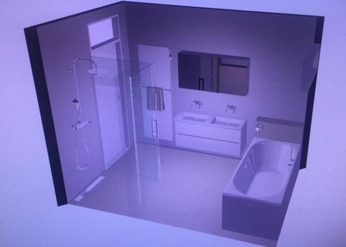 De Spaan Microcement Badkamer Microbeton Naadloos Wanden Douche 3D ontwerp 3