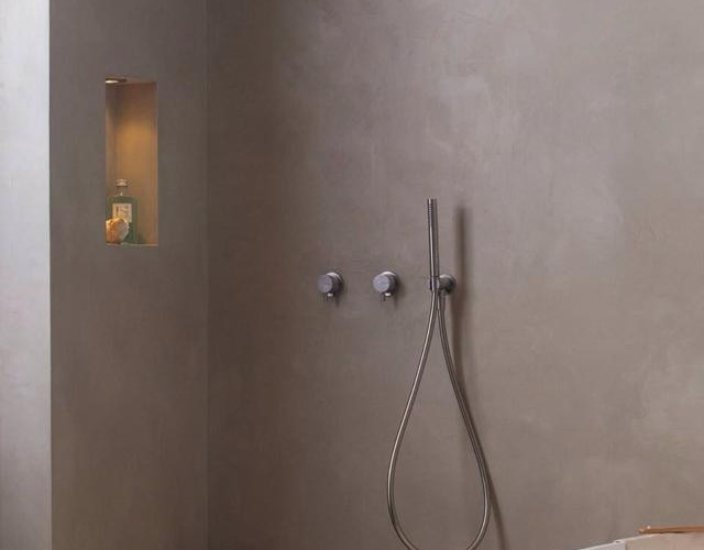 Naadloze Badkamer Wanden : De spaan microcement u2013 microcement badkamer wanden vloer project edfan